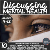 Mental Health- Middle/High School Conversation Starters Package