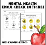 Mental Health Emoji Check In Entrance Exit Ticket - Mindfulness Mini Activity