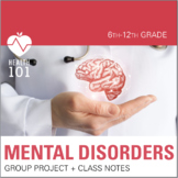 Mental Health Lesson: Group Project- Depression, Anxiety & More!