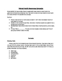 Mental Health Media/Research PSA- Depression, Body Image, etc