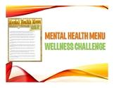 Mental Health Menu Wellness Staff Challenge