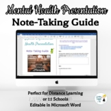 Mental Health Note-Taking Guide - Online Distance Learning