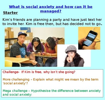 Mental Health: Social Anxiety