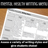 Mental Health Ted Talk Viewing Guide and Writing Menu