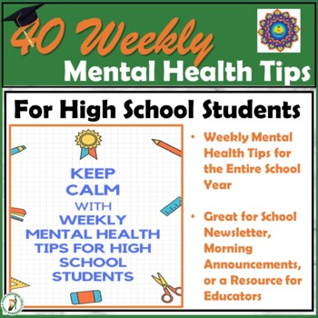 Mental Health Tips - 10 Months of Weekly Tips to Help Students Succeed