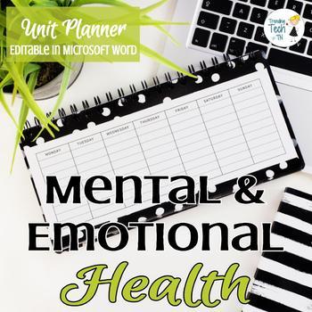 Mental Health Unit Planner - Editable in Microsoft Word