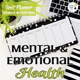 Mental Health Unit Planner - Editable in Microsoft Word