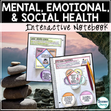 Mental Health Unit Interactive Notebook | Anxiety Depression Social Media