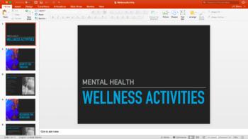 Mental Health: Wellness Activities Powerpoint