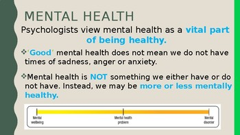 Mental Health & Mental Disorders INTRO PPT