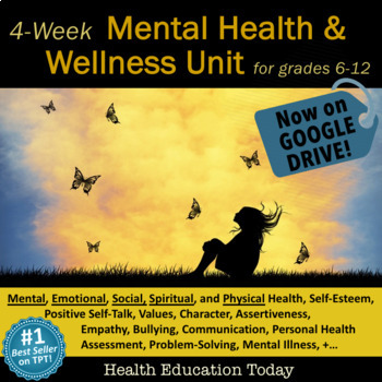 Mental Health Lessons: 20+ Interactive Mental Health and Wellness Lessons!