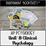Mental Illness & Empathy Booktivity for Clinical Psych Unit of AP Psychology