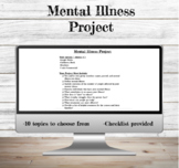 Mental Illness Research Project | Mental Health | Health Education