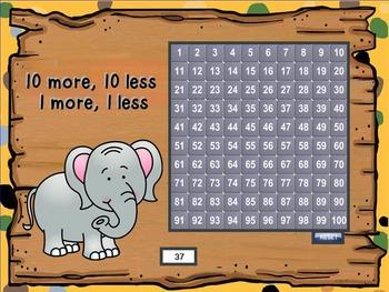 10 More 10 Less 1 More 1 Less (SMARTBoard Lesson)
