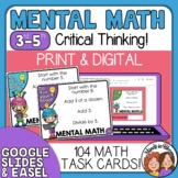 Mental Math Task Cards with Multiple Steps and All 4 Operations