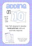 Mental Math 2: Adding on 10