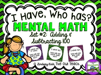 Mental Math:  Mental Addition and Subtraction Game