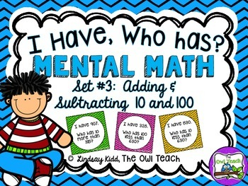 Mental Math:  Mental Math Addition and Subtraction Game