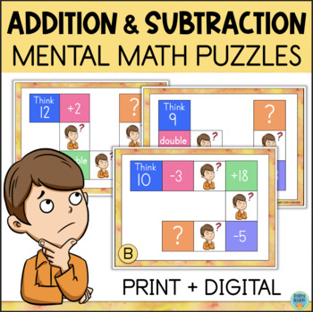Mental Math Task Cards - Addition and Subtraction