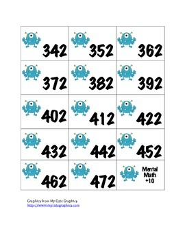 Mental Math Activity Cards