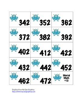 Mental Math Activity Cards