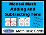 Mental Math: Adding and Subtracting Ten with Three Digit Numbers Ending in Zero