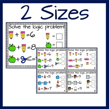 Back To School Math Logic Problems