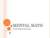 Mental Math Addition Double Digit NO Regrouping
