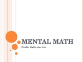 Mental Math Addition Double Digit and Tens