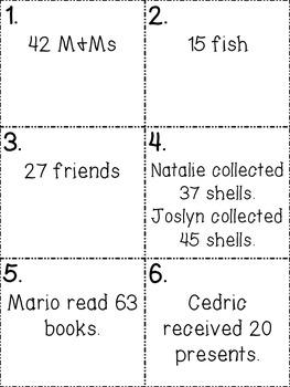 Mental Math: Addition Edition Problem Solving Task Cards {24}