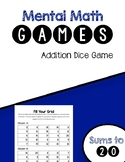 Mental Math Addition Game- Fill your Grid