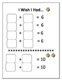 Mental Math Addition Game for Counting On - I Wish I Had