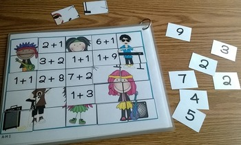 Mental Math Addition Match-Up Puzzles 2