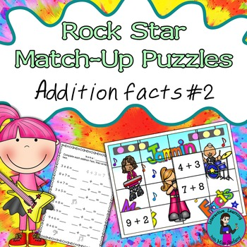 Mental Math Addition Match-Up Puzzles 2