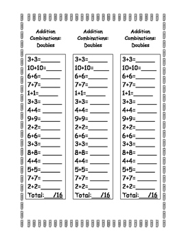 Mental Math Addition Sampler