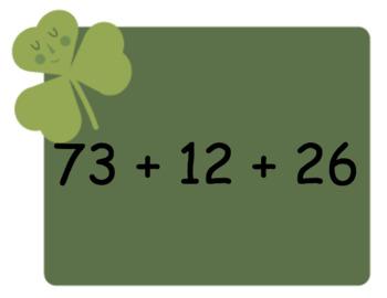 St. Patrick's Day Math - mental math, addition, subtraction number sentences