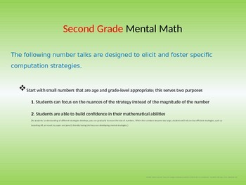 Mental Math Addition and Subtraction Strategies