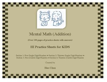 Mental Math (Addition) for KIDS (HI Practice Sheets for KIDS)