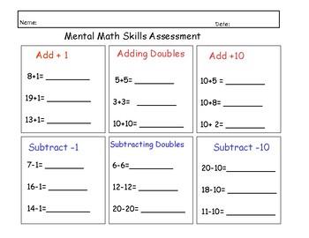 Mental Math Assessment