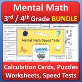 Mental Math Activities 3rd 4th Grade BUNDLE
