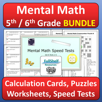 Mental Math BUNDLE 4th 5th 6th Grade
