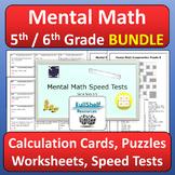 Mental Math Activities 5th 6th Grade BUNDLE