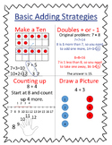 Mental Math Basic Adding Strategies Anchor Chart