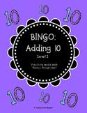Mental Math Bingo! - Adding 10 (Level 1)