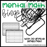 Mental Math Bingo