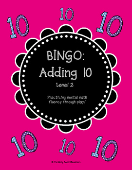 Mental Math Bingo! - Adding 10 (Level 2)