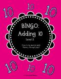 Mental Math Bingo! - Adding 10 (Level 2)