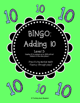 Mental Math Bingo - Level 3