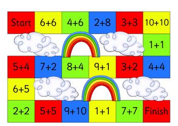 Mental Math Board Games