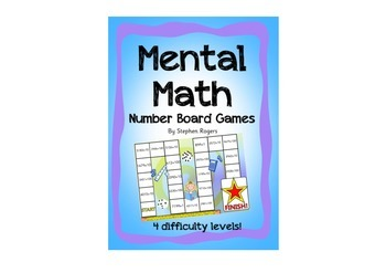Mental Math Board Games - adding Ones Tens Hundreds